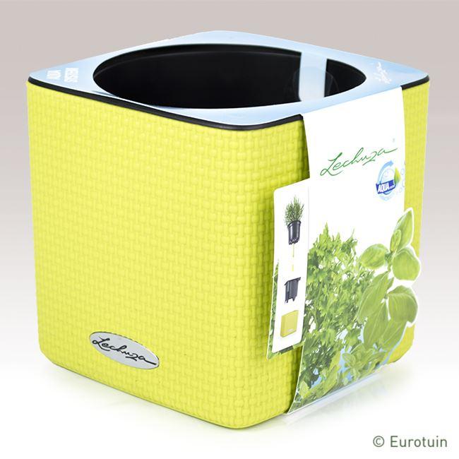 lechuza kruidenpot cube color 14 limoengroen online tuinwinkel. Black Bedroom Furniture Sets. Home Design Ideas