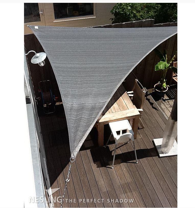 Nesling Schaduwdoek driehoek 3.6m antraciet