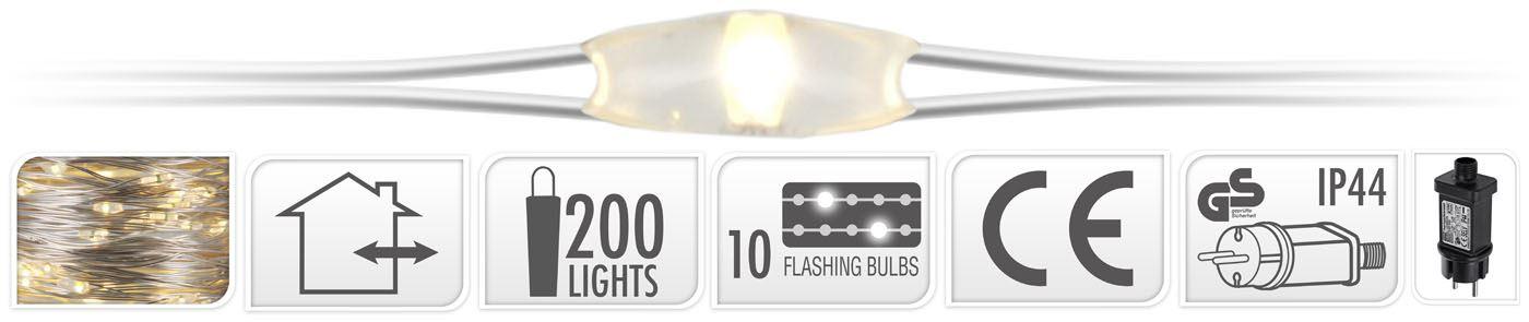 Draadverlichting 200 Led Warm Wit Flash Kerstverlichting Online Tuinwinkel Met De Grootste Keuze En Lage Prijzen Mijntuin Org