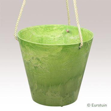 Artstone Hangpot Claire lime 22 cm