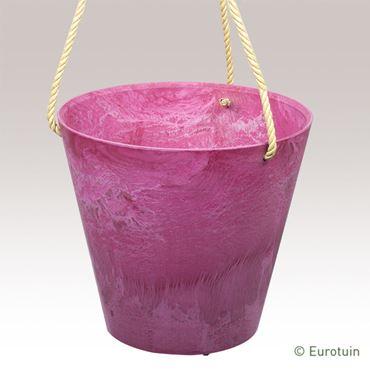 Artstone Hangpot Claire pink 22 cm