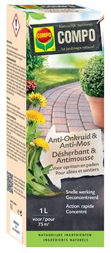 Bio Anti-onkruid & Anti-mos  Opritten & Paden Concentraat 1 L