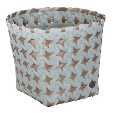 Round Open Basket Greyish Green S