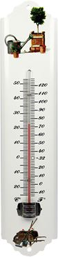 Buitenthermometer 30cm wit