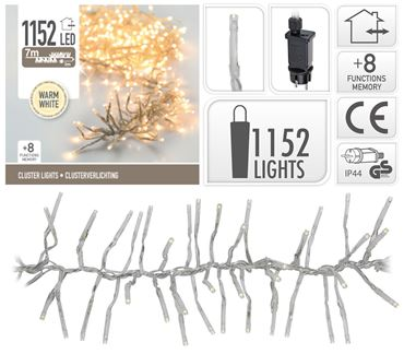 Clusterverlichting 1152Led Warm wit
