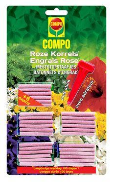 Compo Roze Korrels Meststofstaafjes  (24 Stuks + 6 Gratis)