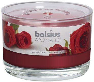 Bolsius Geurglas Velvet rose