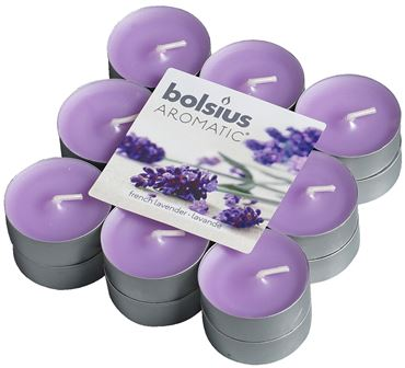 Bolsius Geurlichten blokverpakking 18 French Lavender