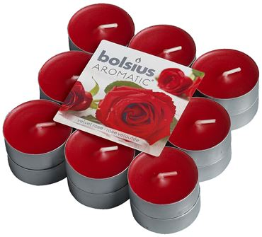 Bolsius Geurlichten blokverpakking 18 Velvet Rose