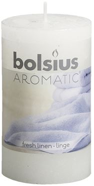 Bolsius Geurstompkaars rustiek  Fresh linen