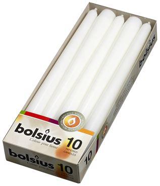 Bolsius Gotische kaars, doos 10 Wit