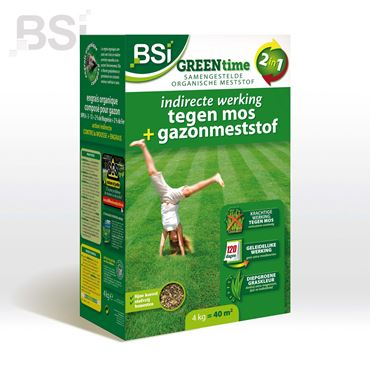 Green Time gazonmeststof + anti-mos