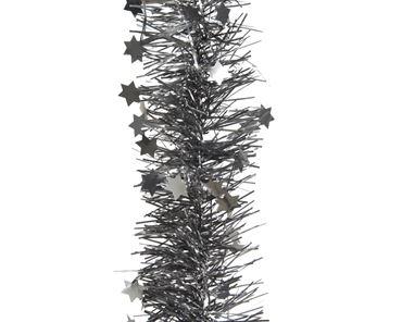 Decoris Guirlande ster steengrijs 270cm