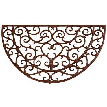 Esschert Design Halfronde gietijzeren deurmat