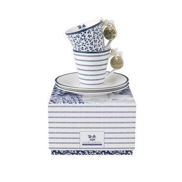 Laura Ashley Set/2 Espressotassen + schotels - Giftbox