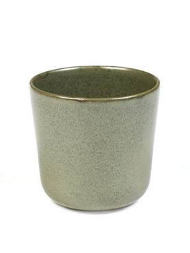 Sergio Herman Set van 4 Mugs Surface Zonder Oor Camogreen - Giftbox