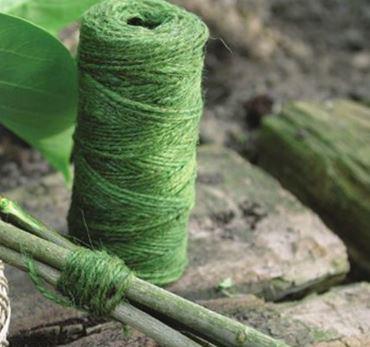 Jute touw groen 90 m