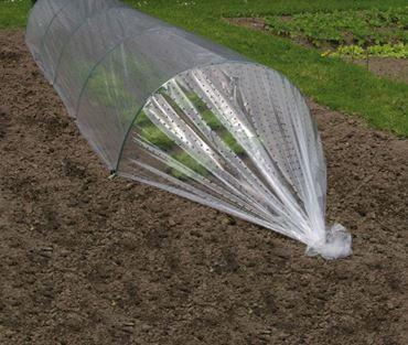 Nature Geperforeerde moestuinfolie transparant 2x10m 50µ