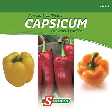 Paprika 3 varieteiten
