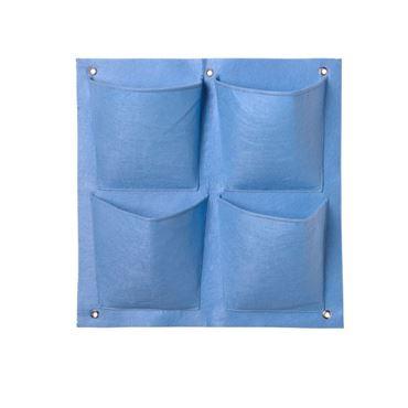 Plantentas van vilt 4 vakken Blauw