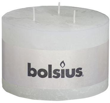 Bolsius Rustiek 3-lonten kaars Wit
