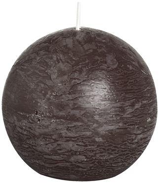 Bolsius Rustiek bolkaars Chocolade bruin