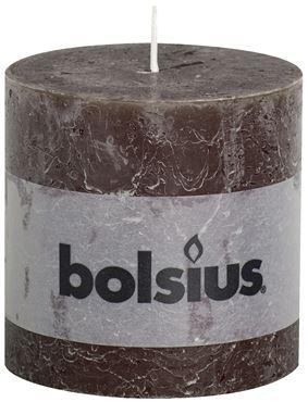 Bolsius Rustiek stompkaars Chocolade bruin