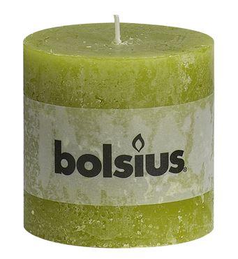 Bolsius Rustiek stompkaars Groen