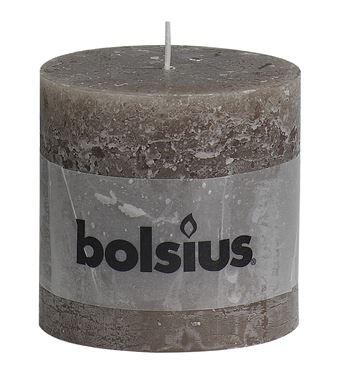 Bolsius Rustiek stompkaars Taupe
