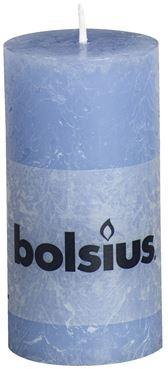 Bolsius Rustiek stompkaars Jeans blauw