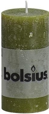 Bolsius Rustiek stompkaars Olijfgroen