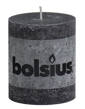 Bolsius Rustiek stompkaars Antraciet