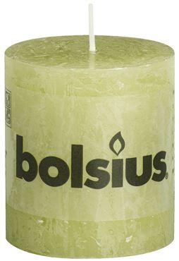 Bolsius Rustiek stompkaars Pastel groen