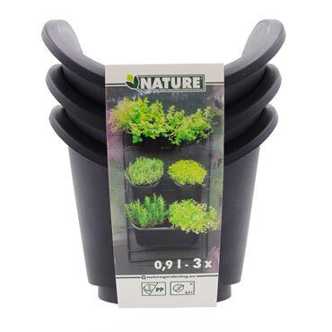 Set van 3 vierkante potten voor verticaal tuinierset